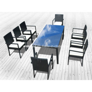 Rattan Furniture Dining Set for Outdoor with Steel Pipe (1048) pictures & photos