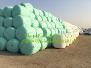 Agricultural Stretch Wrap Film Green Colour 750X1500X25um for Poland Market pictures & photos