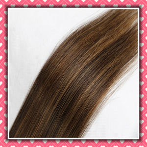 Wholesale Price Clip-on Human Hair Extensions Silky Straight 16inch pictures & photos