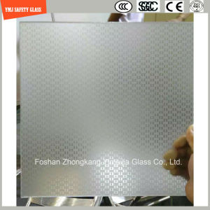 3-19mm Silkscreen Print/Acid Etch/Frosted/Pattern Flat/Bent Tempered/Toughened Glass for Hotel, Home Door/Window/Shower with SGCC/Ce&CCC&ISO Certificate pictures & photos