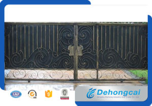 Automatic Elegant House Galvanized Wrought Iron Sliding Entrance Gate Designs pictures & photos