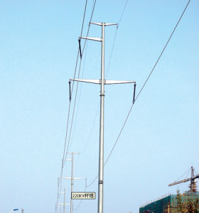 Single Tube Transmission Line Steel Tower pictures & photos