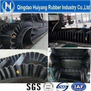 Corrugated and Ribbed Rubber Conveyor Belt with Cleat