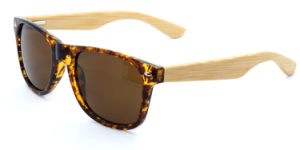 Bamboo Sunglasses and PC+Bamboo Temples Sunglasses C0014 pictures & photos