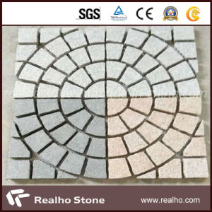 Mesh Backed Natural Granite Cobble Paving Stones for Driveway and Patio pictures & photos