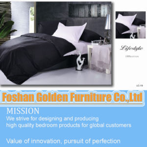 Soft Polyester Microfiber Plain Reversible Patchwork Home Decorative Bedding Set pictures & photos