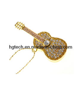 Guitar Shape Jewelry USB Flash Drives 32GB 64GB