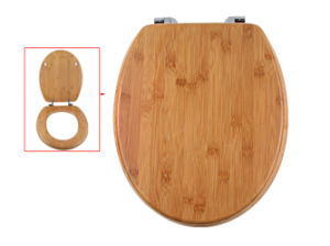 Personalized Carbonized Bamboo Round Toilet Seat Cover pictures & photos
