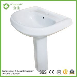 Twyford Ceramic Pedestal Wash Basin with Soncap Certificate pictures & photos