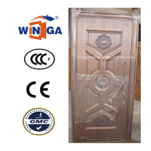 Turkey Popular Outside Security Metal Copper Door (W-ST-07) pictures & photos