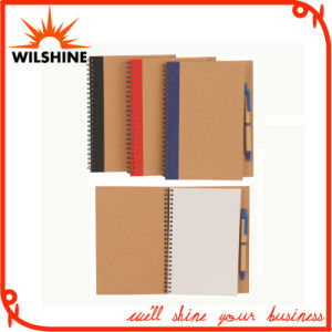 Recycled Paper A5 Note Book with Pen for Promotion (SNB106) pictures & photos