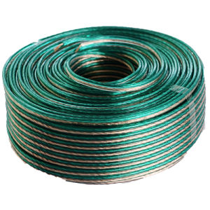 Clear / Green Speaker Wire