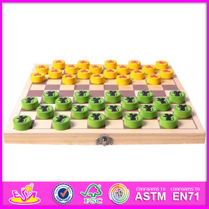 2014 New Kids Wooden Checkers Sets, Popular Wooden Smart Game Checkers, Folding Game Checkers W11A023 pictures & photos