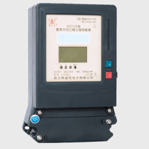 Triple Phase Smart Prepayment Remote Control Electricity Meter pictures & photos
