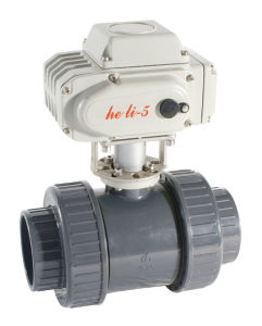 Electric PVC Ball Valve with Actuator pictures & photos