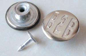 Silver Moving Jeans Buttons B288 pictures & photos