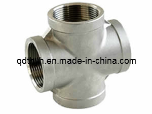"Stainless Steel Pipe Fittings - Equal Cross1-1/4"" NPT Female - 150lb pictures & photos"