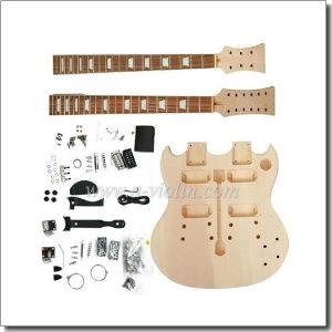 Double Neck DIY Electric Guitar Kits (EGD220-W) pictures & photos