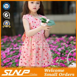 High Quality Girls Flowers Printing Dress