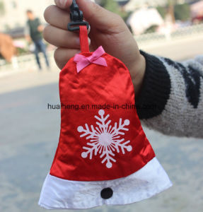 Christmas Xmas Hat Bell Gloves Socks Pattern Polyster Foldable Folding Promotional Shopping Bag pictures & photos