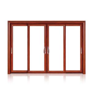 Feelingtop Double Glazing Aluminum Wooden Window (FT- W80) pictures & photos