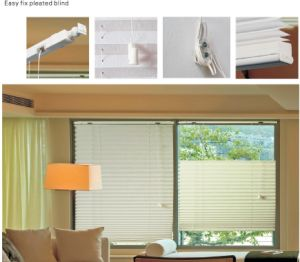 Easy Fix Pleated Blind for Window (HB-21) pictures & photos