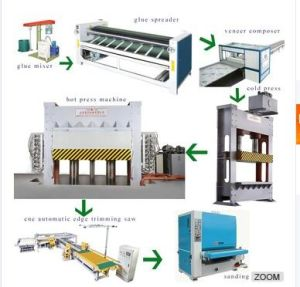 Construction Plywood Making Machine Production Line pictures & photos