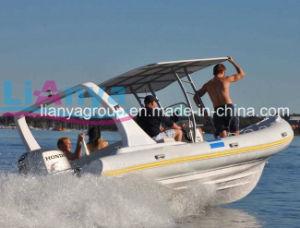 China 6.6m Fiberglass Hull Rib Boat Rigid Inflatable Boat pictures & photos
