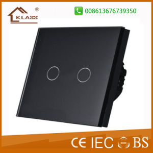 Wall Switch, 2gang 1way Remote Control Light Switch, AC220V pictures & photos