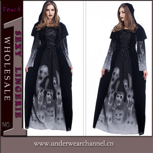 Ladies Sexy Halloween Zombie Ghost Skull Adult Theatrical Costume (TLQZS88939) pictures & photos