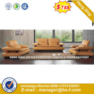 Modern Europe Design Steel Metal Leather Waiting Office Sofa (HX-S349) pictures & photos