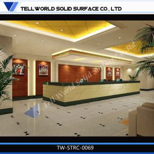 Standard Cheap Reception Desk Restaurant Cashier Desk pictures & photos