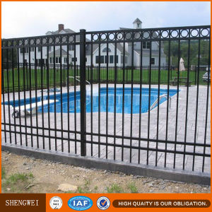 Powder Coated Spear Top Metal Fence Panels pictures & photos