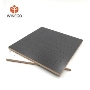 Melamine Finish Wood Perforated Acoustic Panel pictures & photos