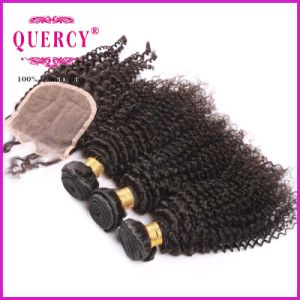 """3.5*4"""" Silk Top Lace Kinky Curl Brazilian Virgin Remy Hair pictures & photos"""