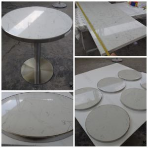 Anti-Pollution Marble Top Dining Table with Chairs pictures & photos