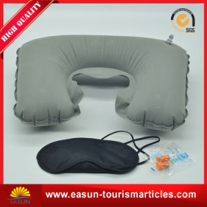 Flocked Disposable inflatable Pillow for Aviation pictures & photos