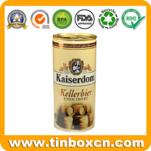 Round Colorful Printed Tin Coffee Can with Ring Pull pictures & photos