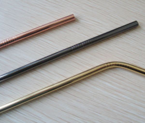 Cheap Galvanized Copper Gold Stainless Steel Straw pictures & photos