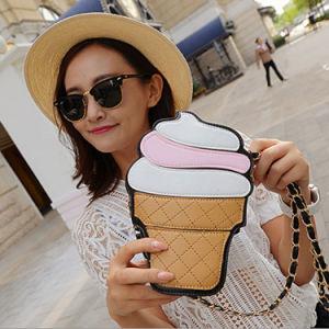 Korean Summer Fashion Ice Cream Cake Bag Casual Bag Shoulder Bag Chain Diagonal Female Package Bags pictures & photos