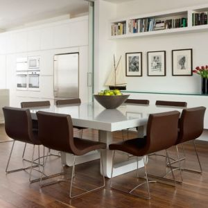 Customized Design Corian Solid Surface Home Dining Table pictures & photos