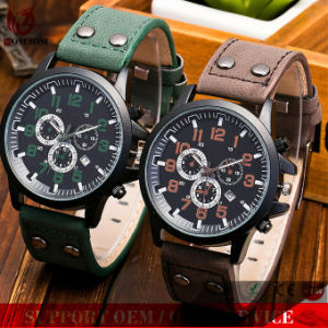 Yxl-135 Logo ODM/OEM Man Stainless Steel Dual Double Buckle Quartz Wrist Watches pictures & photos