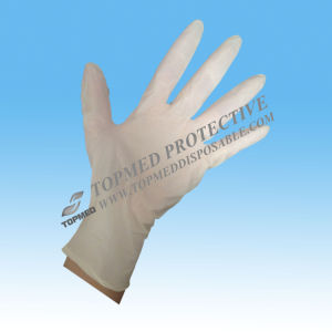 Disposable Vinyl Examination Gloves with Powdered pictures & photos