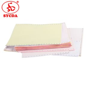 60GSM 9.5′′*11′′ Carbonless Computer Printing Paper for Bank pictures & photos