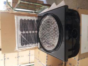 "EU Standard 12"" Solar LED Yellow Flashing Traffic Flash Lamp pictures & photos"