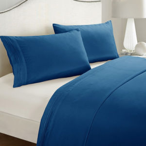 Wholesale Hotel Collection Solid Color Microfiber Hotel Embroidery Bedding Set pictures & photos