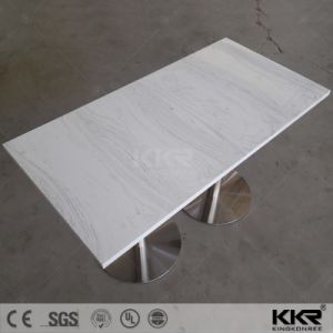 4 Seats Solid Surface Top Dining Table Set pictures & photos