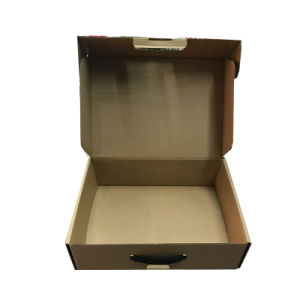 Kraft Paper Food Box with Handle pictures & photos