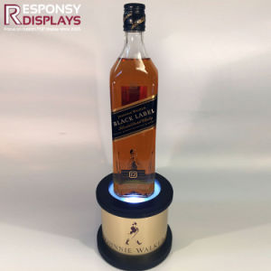 Wooden Customized Logo LED Illuminated Pedestal for Wine pictures & photos