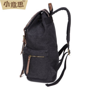 Canvas Man Shoulder Bag European and American Wind School Backpack pictures & photos